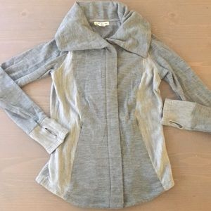 Gray Collared Zip Up Size L